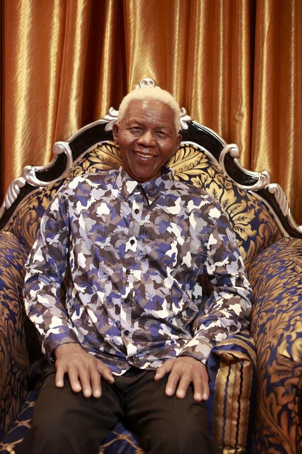 Figura de la cera de Nelson Mandela foto de archivo libre de regalías