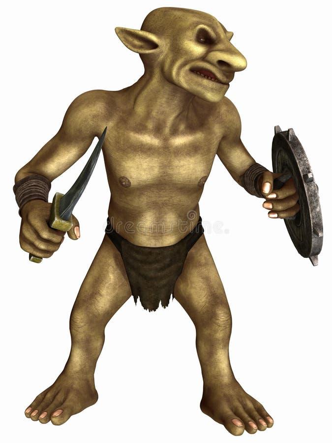 Figura de la fantasía - Goblin ilustración del vector