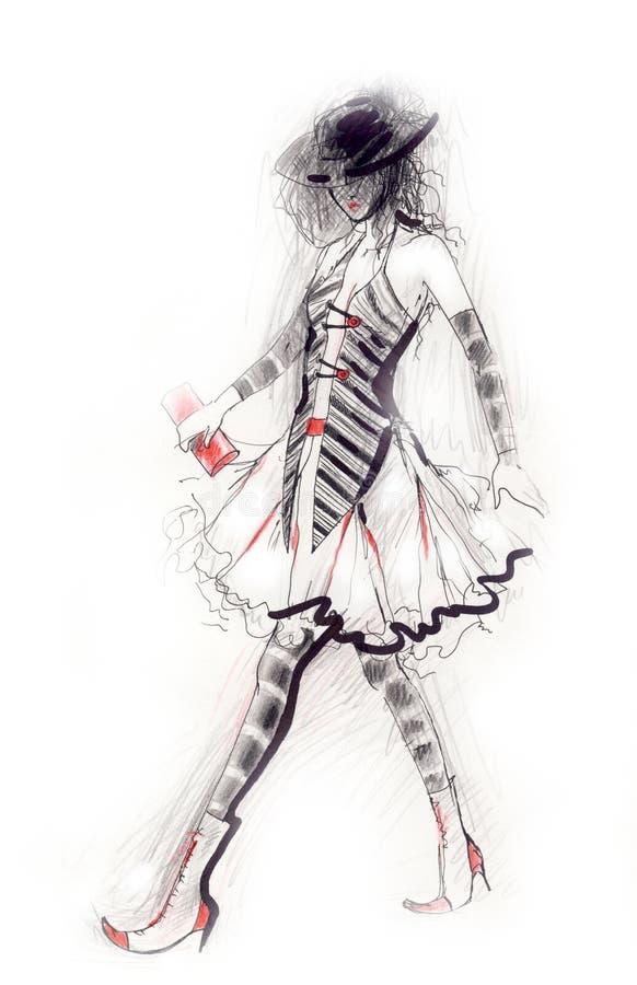 Figura de la prolongación del andén libre illustration