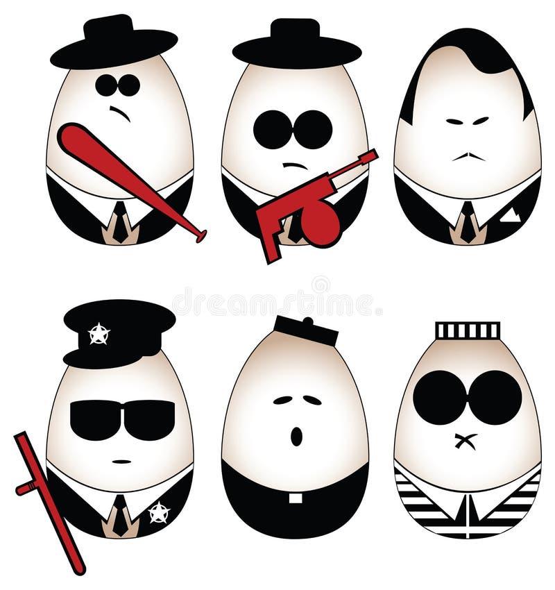 Figura de los huevos ilustración del vector