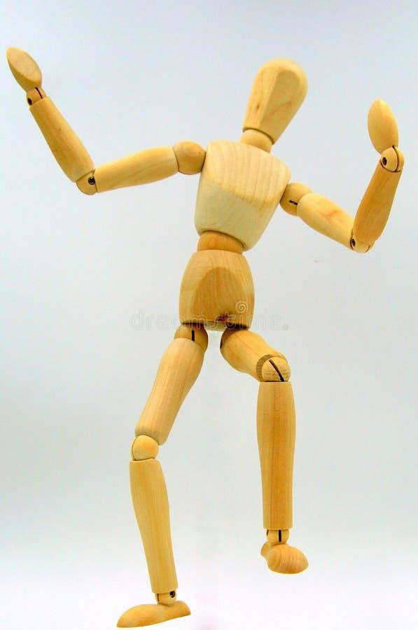 Figura de madera del baile borracho imagenes de archivo