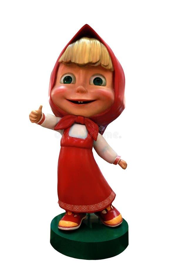 Figura de Masha de la muchacha del juguete de la pel?cula animada para los ni?os foto de archivo libre de regalías
