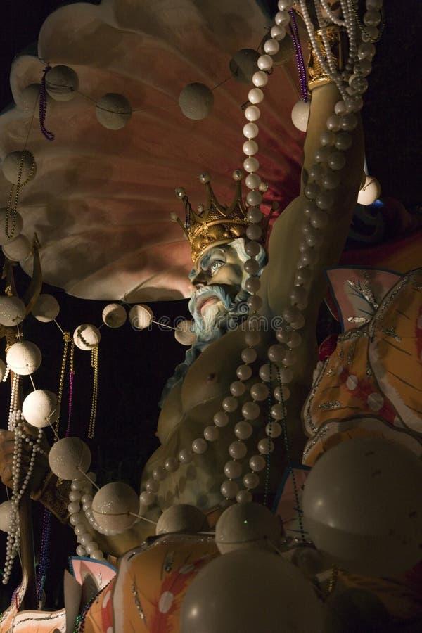 Figura de Netuno na parada de Orpheus. 2007 fotos de stock
