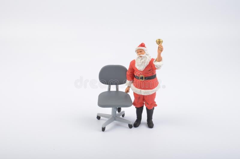 Figura de Santa Clauses com chiar fotografia de stock royalty free