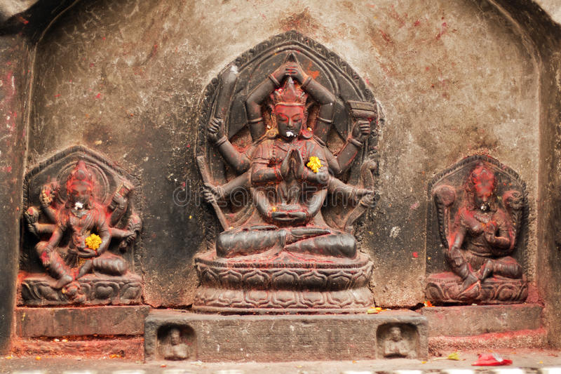 Figura de Shiva en Pashupatinath imágenes de archivo libres de regalías