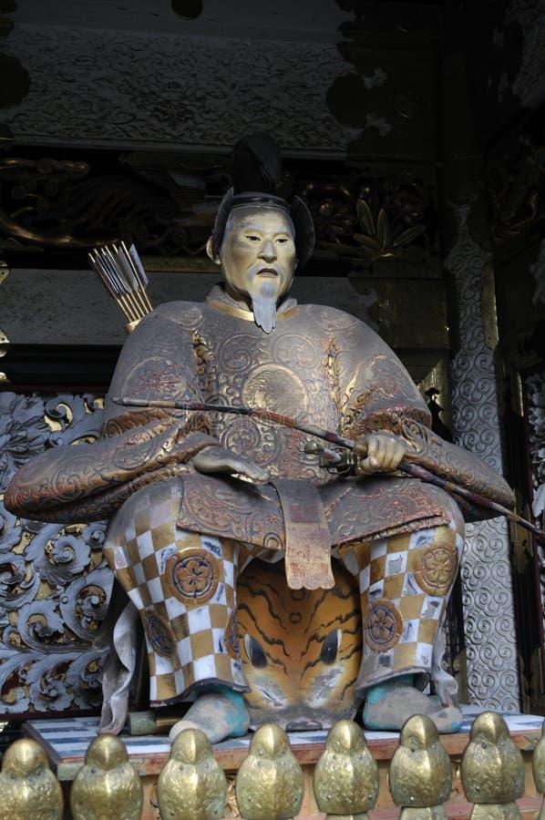 Figura de Tokugawa Ieyasu fotografía de archivo libre de regalías