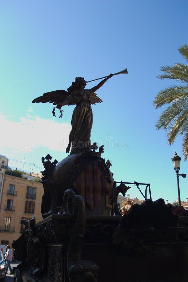 Figura de uno de los flotadores (conocidos como Rocas) de la procesión del Corpus Christi en Valencia, España fotografía de archivo