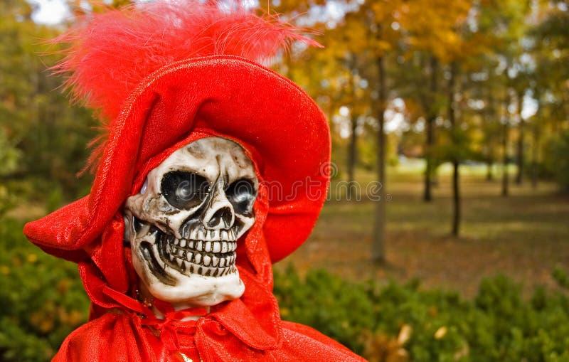 Figura De Víspera De Todos Los Santos De La Muerte Roja Foto de archivo libre de regalías
