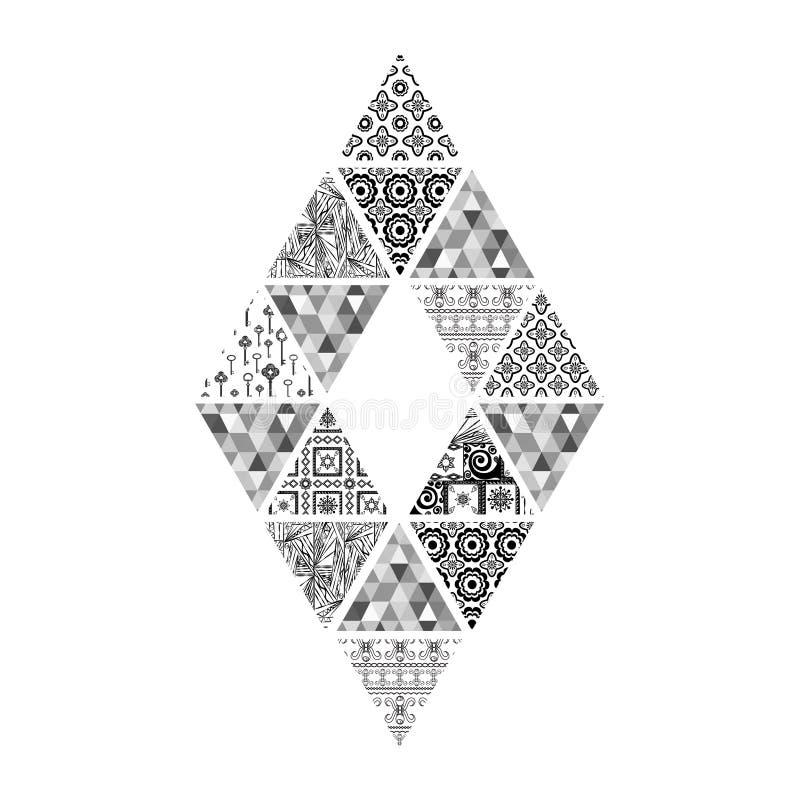 Figura dei triangoli a forma di diamante in bianco e nero for Soggiorno a forma di diamante