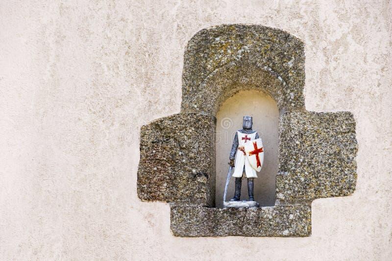 Figura del cavaliere di Templar fotografia stock libera da diritti