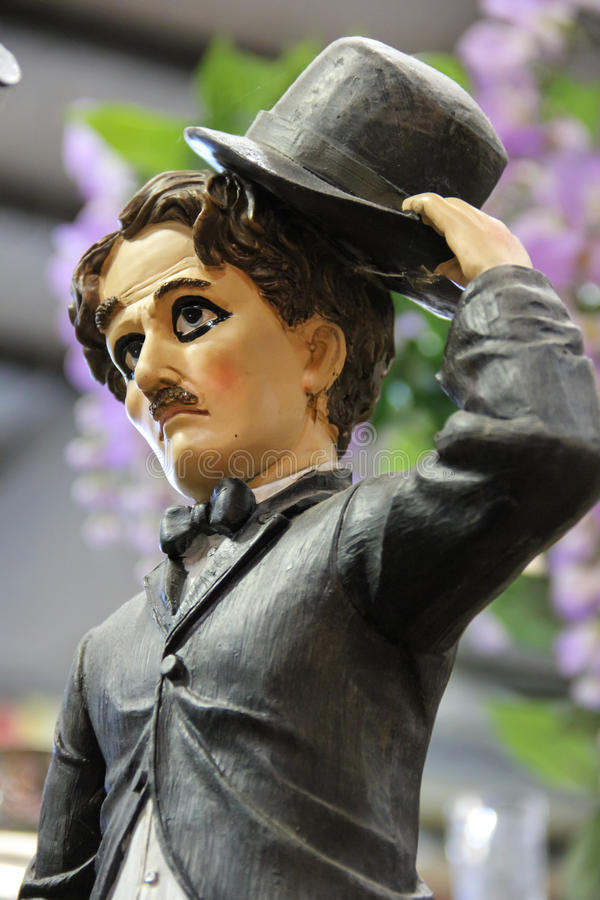Figura del Charles Chaplin immagine stock