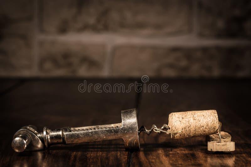 Figura del corcho del vino, captura divertida del concepto imagen de archivo libre de regalías