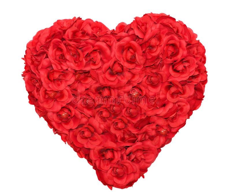 Figura del cuore della Rosa floreale fotografia stock libera da diritti