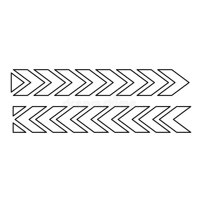 Figura del diseño de pistas del neumático de coches ilustración del vector