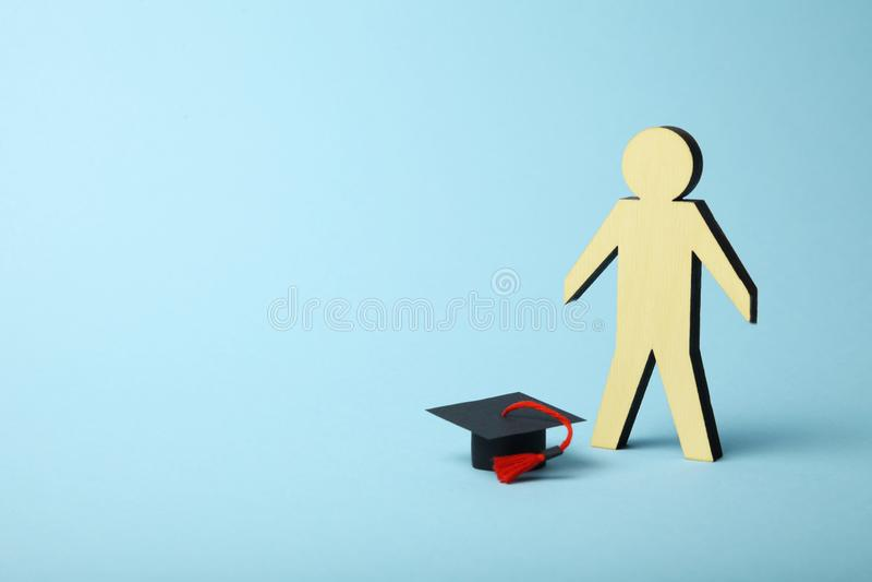 Figura del estudiante, aprendizaje y concepto de la educaci?n imagenes de archivo