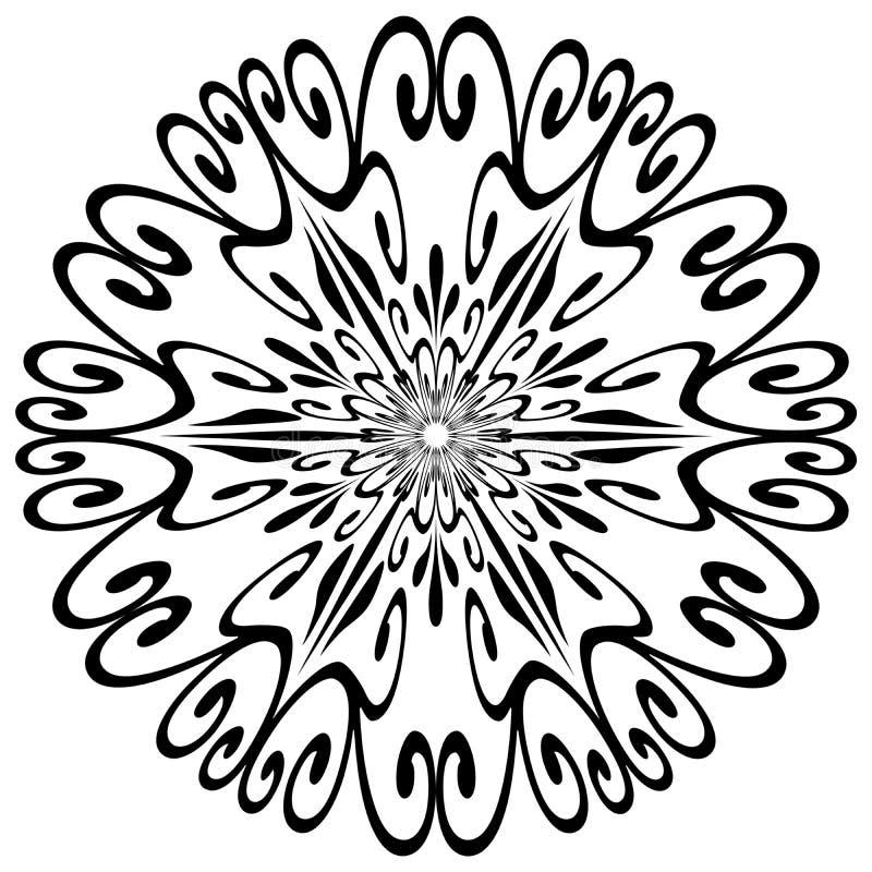 Figura del fiocco di neve illustrazione vettoriale