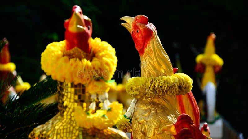 Figura del gallo da combattimento fotografia stock libera da diritti