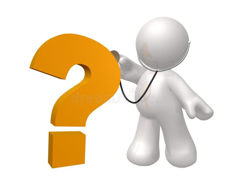 Figura del icono del doctor que controla la pregunta libre illustration