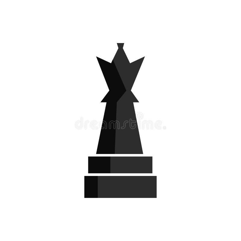 Figura del juego del ajedrez para el juego del app o el diseño del web UI Icono negro del vector stock de ilustración
