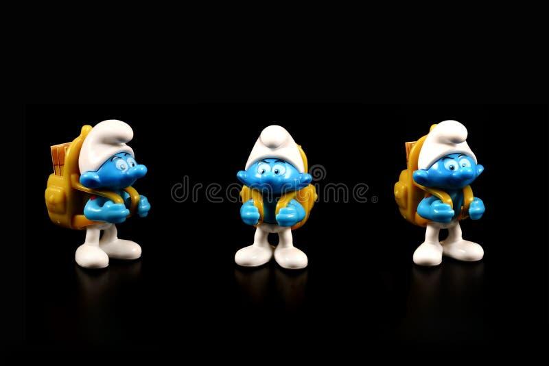 Figura del juguete de Smurf imagen de archivo