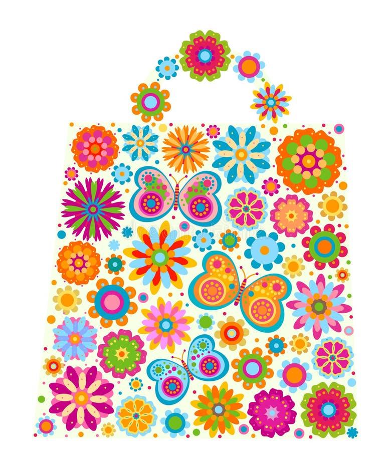 Figura del sacchetto dei fiori illustrazione vettoriale