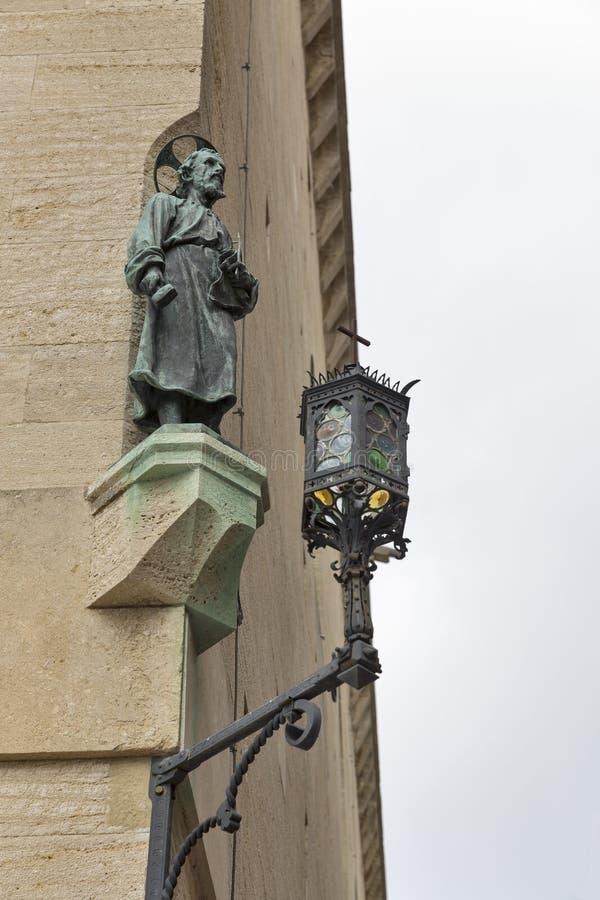 Figura del san Marinus al palazzo di Publico, San Marino immagine stock
