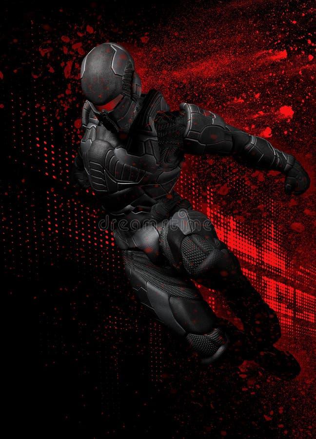 figura dell'eroe eccellente 3d illustrazione di stock
