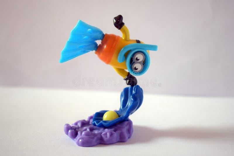 Figura dell'operatore subacqueo del servo fotografia stock