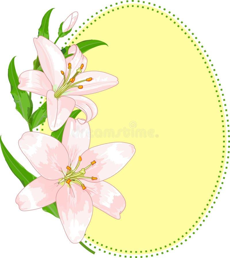 Figura dell'uovo di Pasqua Con i gigli illustrazione di stock