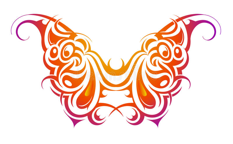 Figura della farfalla royalty illustrazione gratis