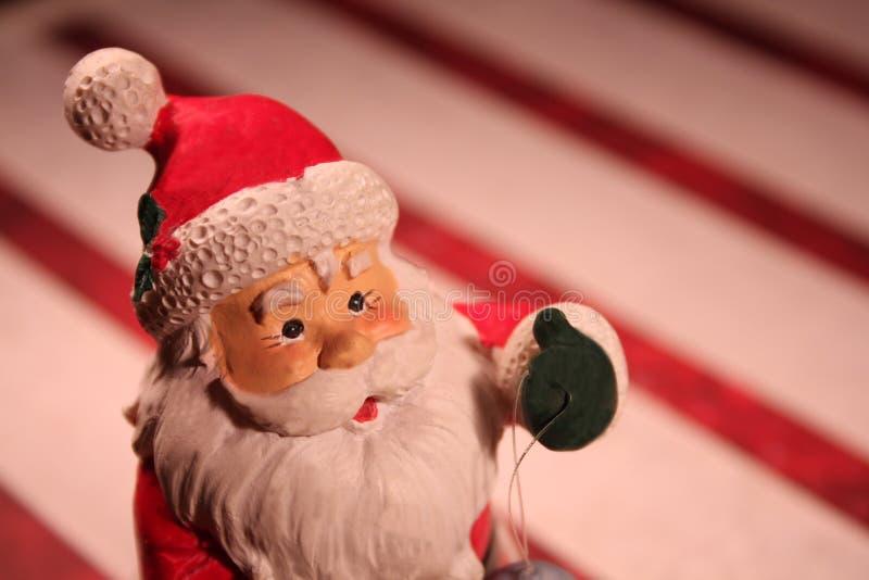 Figura della miniatura del Babbo Natale fotografia stock libera da diritti