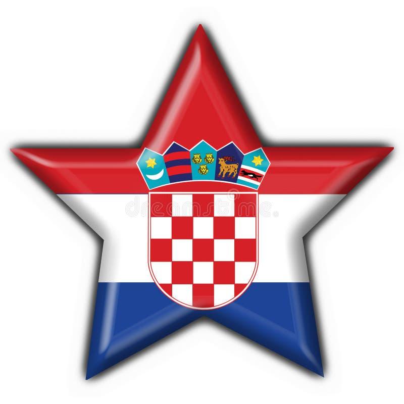 Figura della stella della bandierina del tasto del Croatia royalty illustrazione gratis