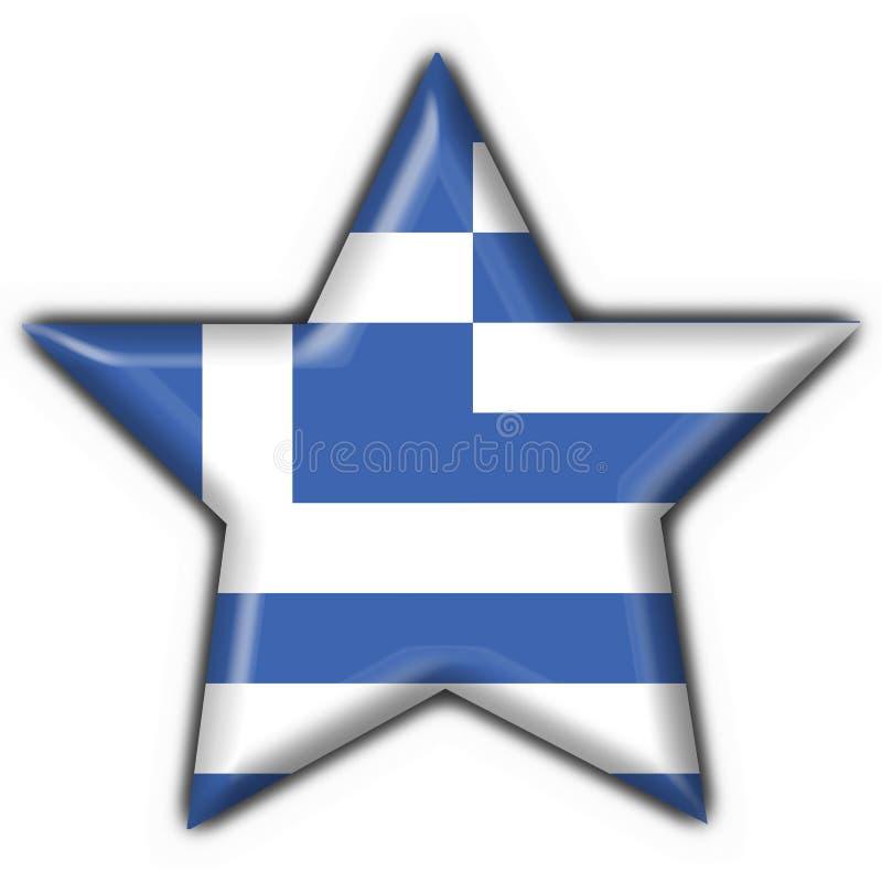 Figura della stella della bandierina del tasto della Grecia royalty illustrazione gratis