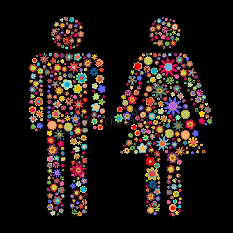 Figura delle donne e degli uomini illustrazione vettoriale