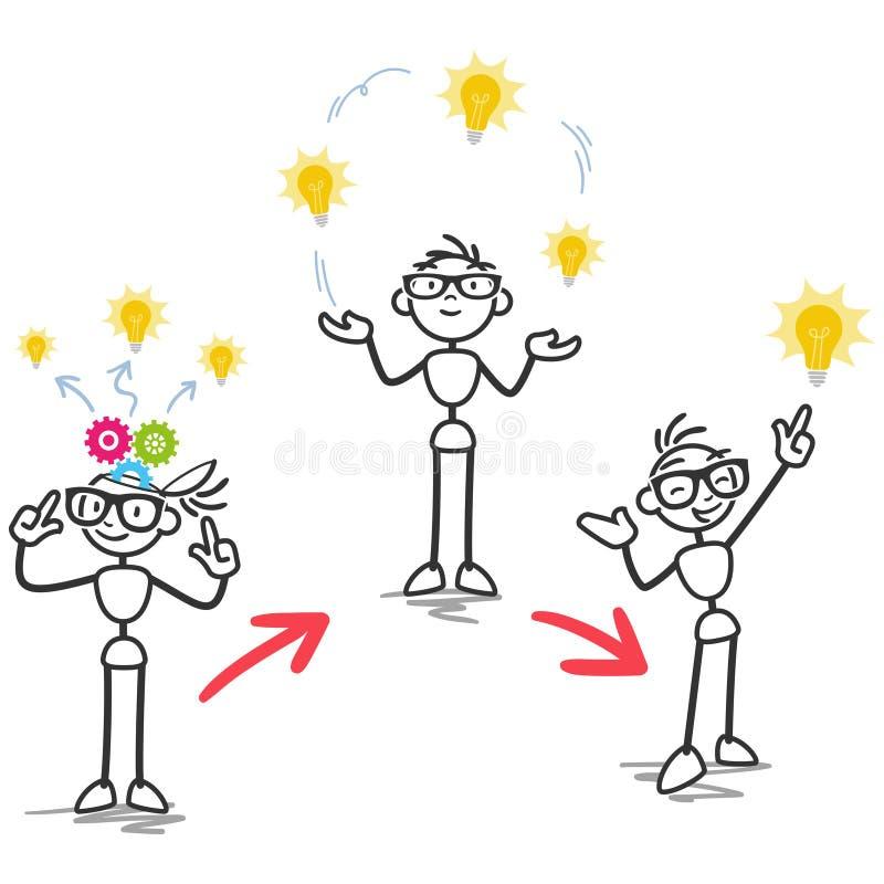 Figura desenvolvimento da vara de processo da ideia ilustração royalty free