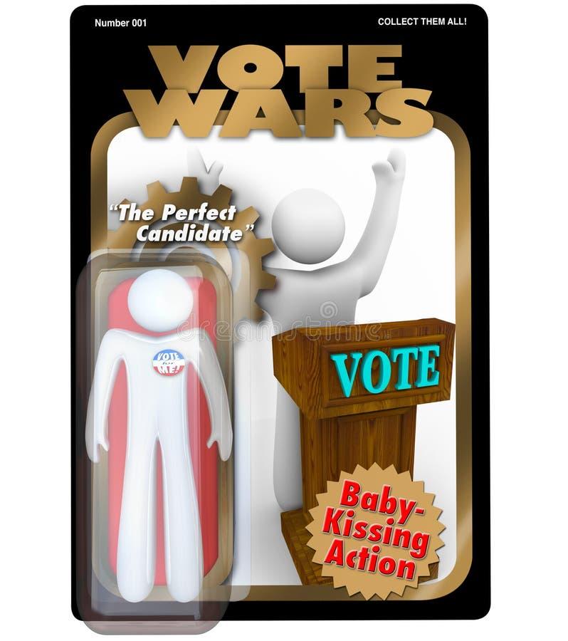 Figura di azione del candidato politico elezione di voto illustrazione vettoriale