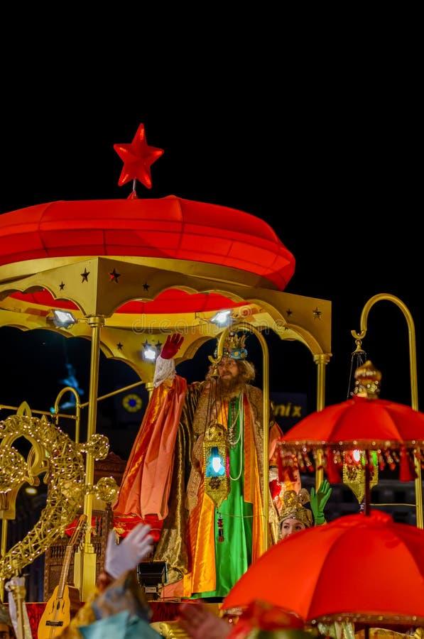 Figura di Caspar durante la parata immagine stock