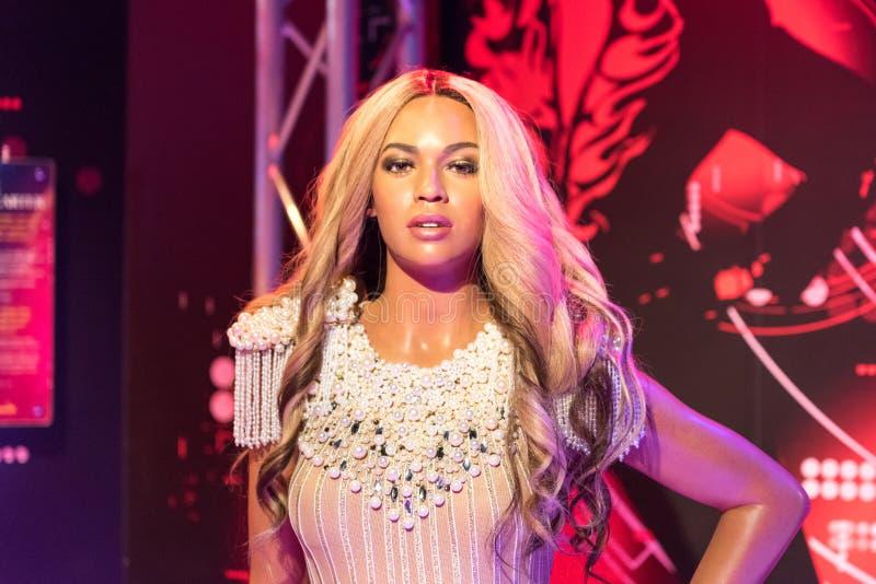 Figura di cera di Beyonce al museo di signora Tussauds a Costantinopoli immagine stock libera da diritti
