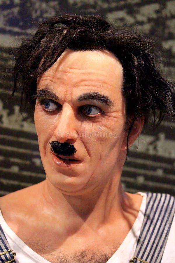 Figura di cera di Charlie Chaplin al museo di musa in Trento, Italia fotografia stock libera da diritti