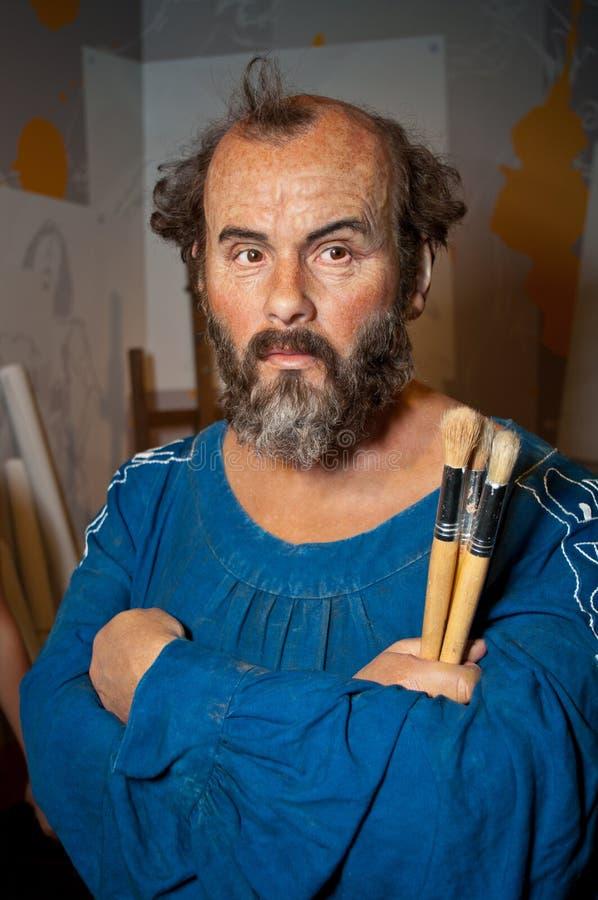 Figura di cera del Gustav Klimt fotografia stock libera da diritti