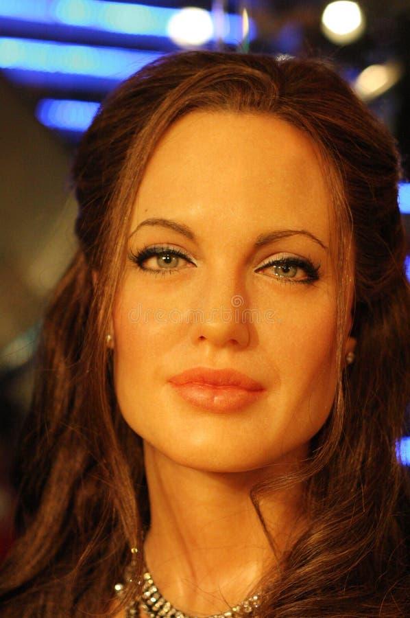 Figura di cera di Angelina Jolie fotografia stock libera da diritti