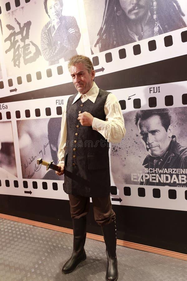 Figura di cera di Robert De Niro immagini stock libere da diritti