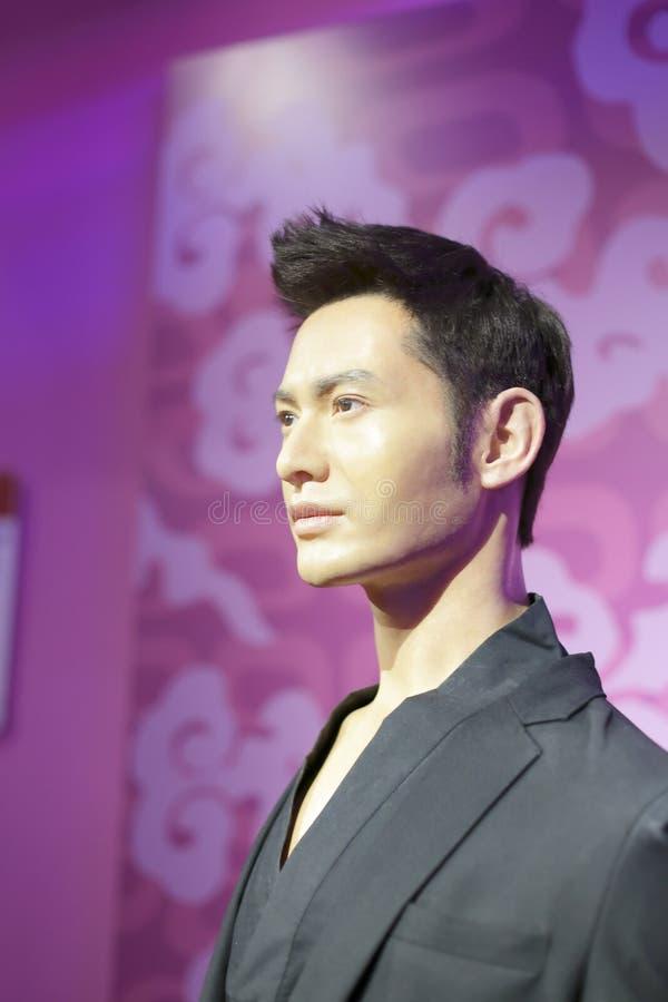 Figura di cera di sig. Huangxiaoming immagine stock