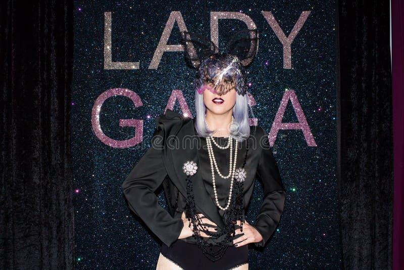 Figura di cera di signora Gaga, Museum Vienna di signora Tussaud fotografia stock