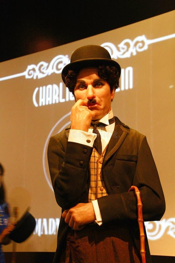 Figura di cera di Sir Charles Spencer Charlie Chaplin fotografia stock libera da diritti