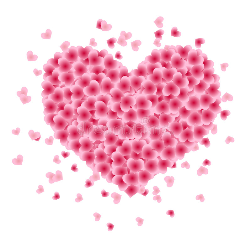Figura di cuore fatta dei fogli royalty illustrazione gratis