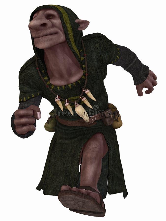 Figura di fantasia - Goblin illustrazione di stock