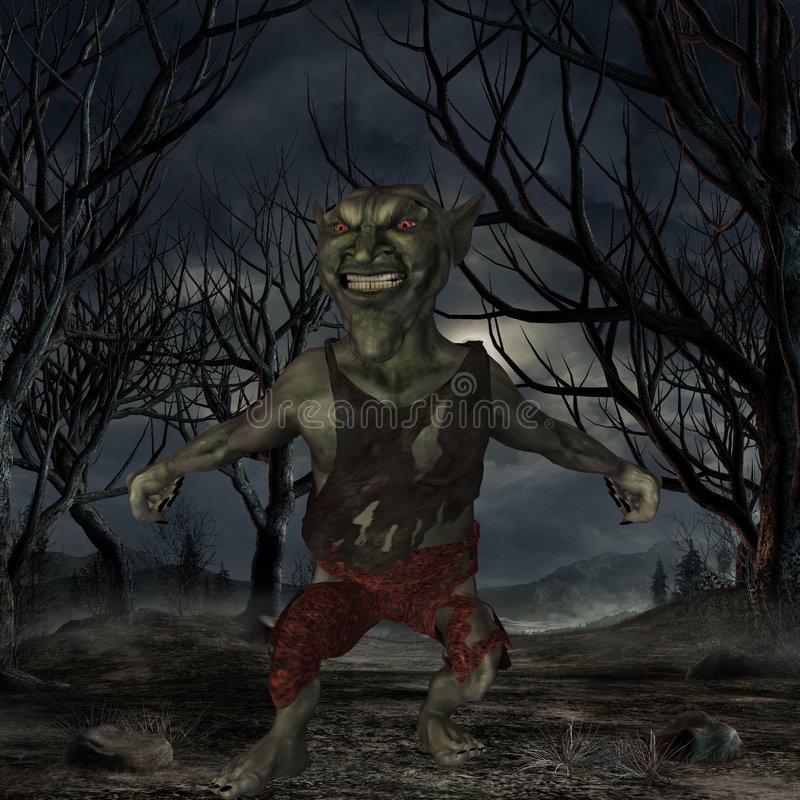 Figura di Goblin-Fantasia illustrazione di stock