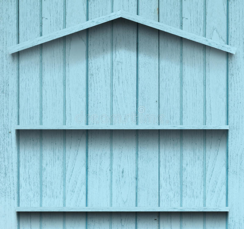 Figura di legno della casa della mensola dell'annata fotografia stock