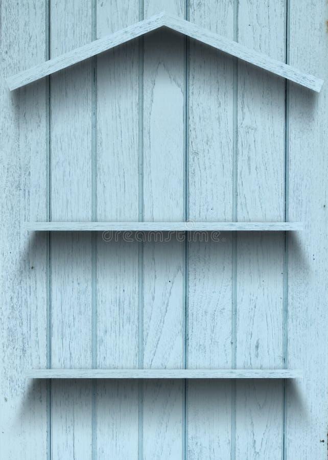 Figura di legno della casa della mensola dell'annata immagini stock libere da diritti